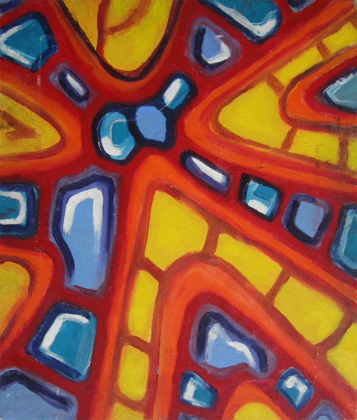 KLEINE ÖL ABSTRAKTE / SMALL OIL ABSTRACTS